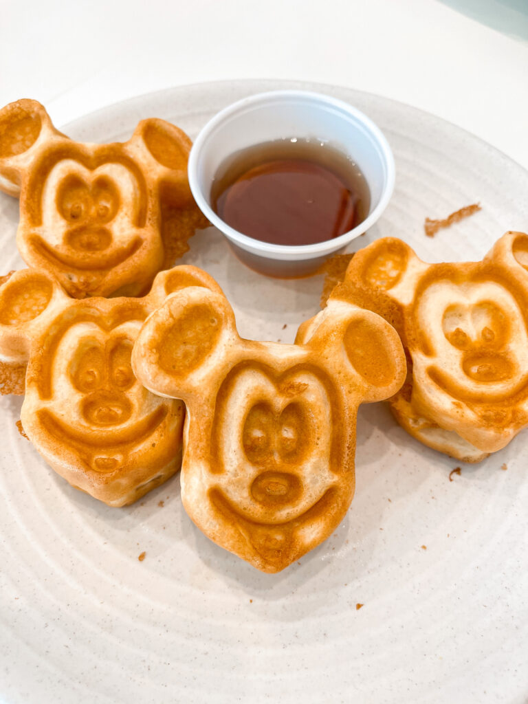 Mickey waffles from the Breakfast buffet at Cambria hotel & suites in Anaheim.
