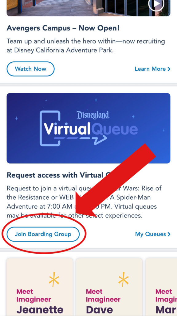 """Click on """"Join Boarding Group""""."""