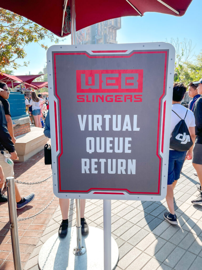 Web Slingers virtual queue entrance.
