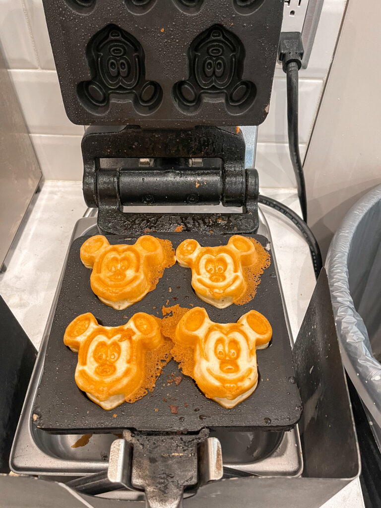 Mickey waffle iron at Cambria hotel & Suites Anaheim Resort.
