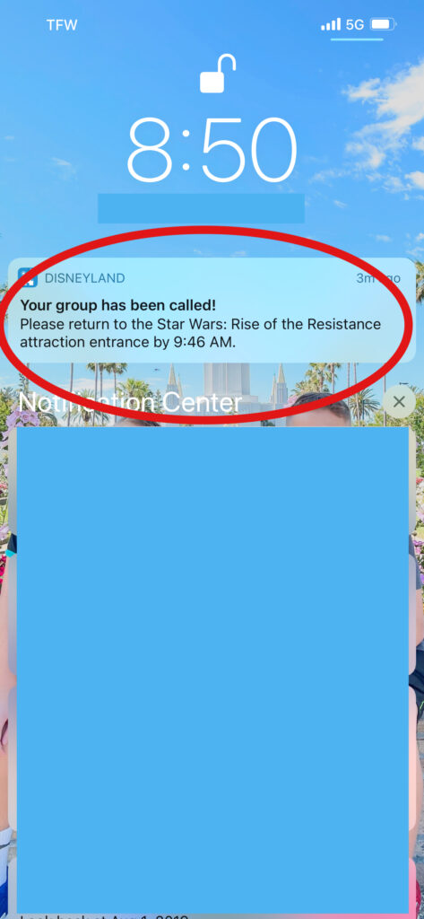 Return time for Rise of the Resistance.