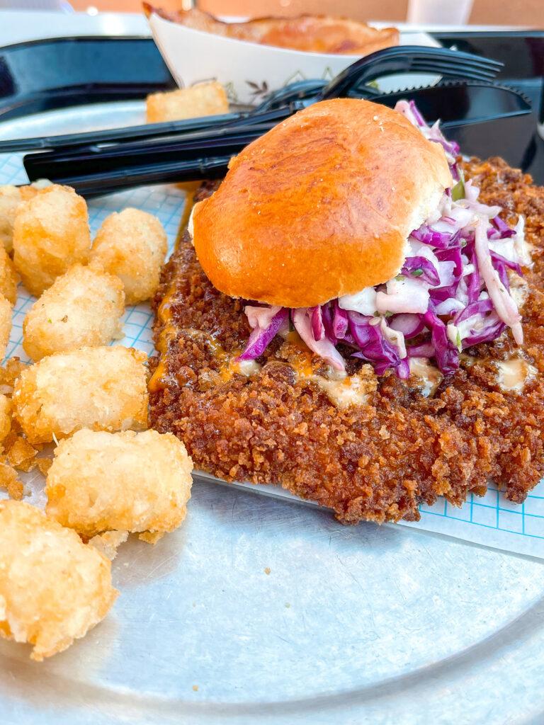 Chicken sandwich from Pym Test Kitchen at Disneyland.