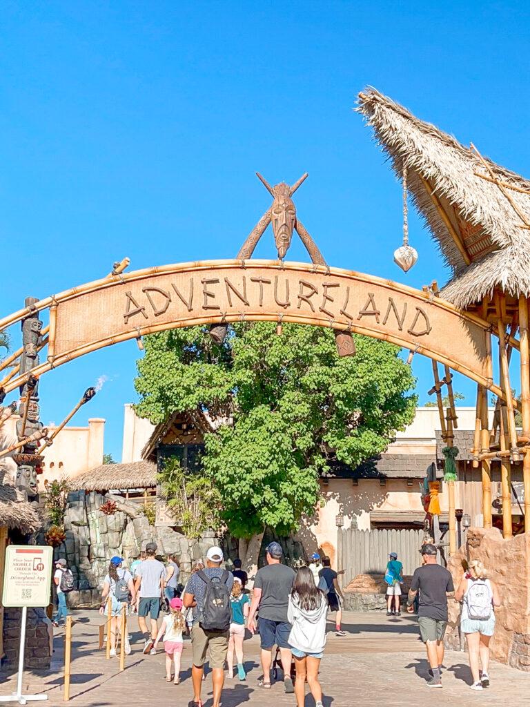 Entrance to Adventureland at Disneyland.