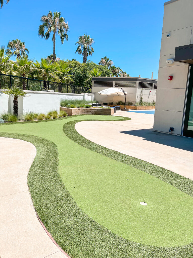 Putting Green at Cambria hotel.