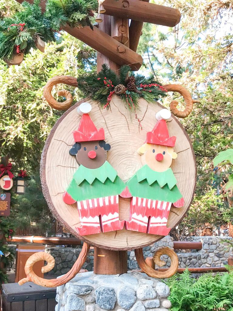 A Christmas decoration at Disneyland.