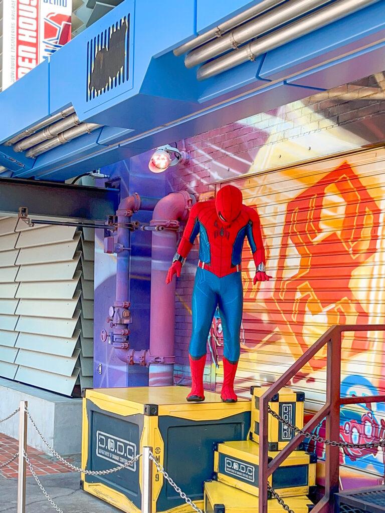 Spider-Man at Disneyland.