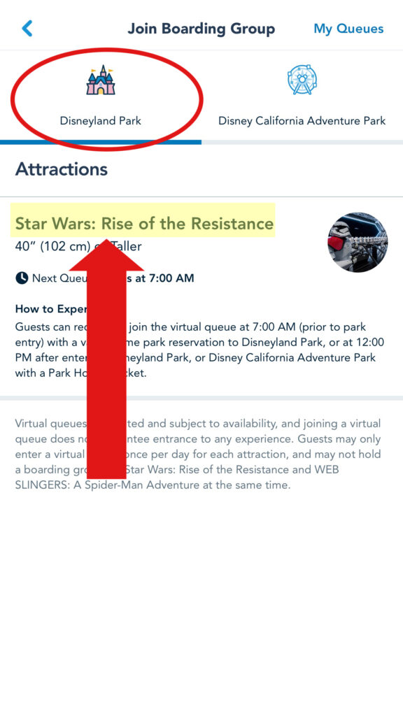 Choose Disneyland to ride Rise of the Resistance.