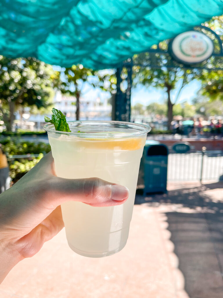 A Mint Julep at Disneyland.