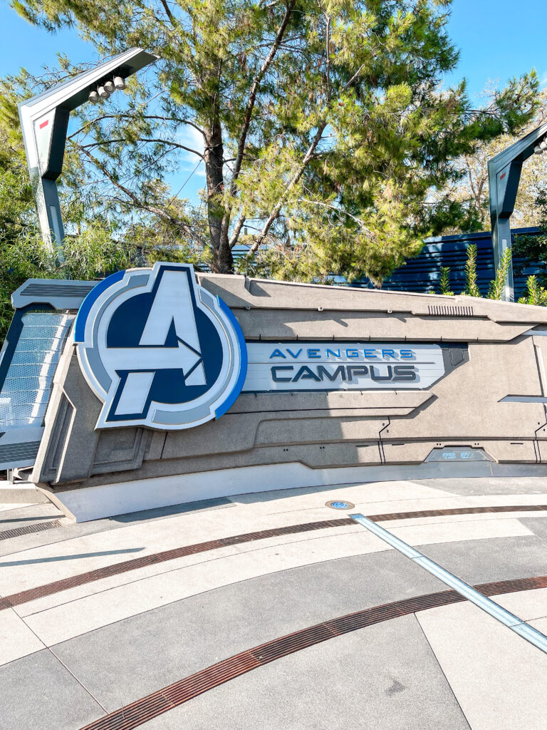 Entrance to Avengers Campus at Disney California Adventure Park.