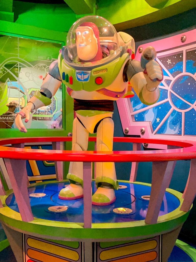 Buzz Lightyear Astro Blasters at Disneyland.