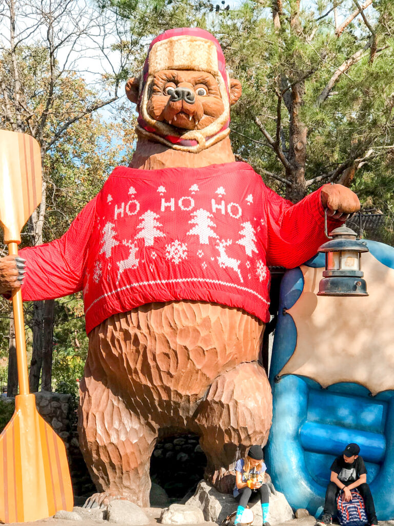 Grizzly River Run decorated for the holidays.