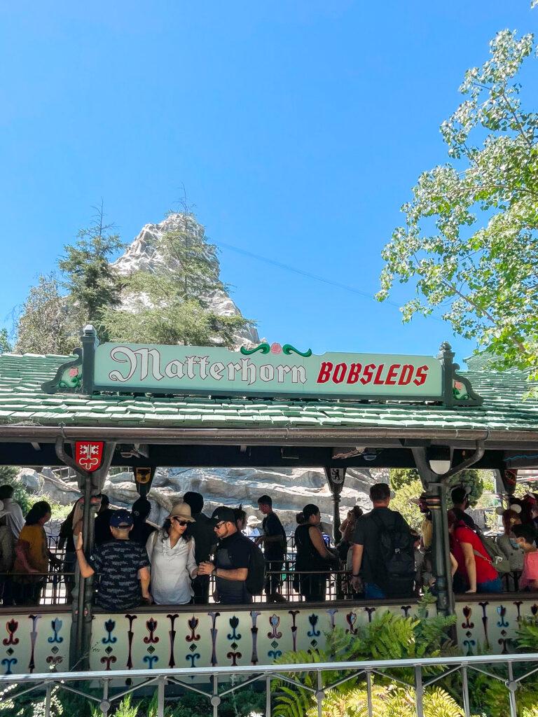 Matterhorn Bobsleds at Disneyland.