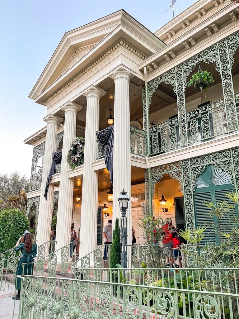 The Haunted Mansion at Disneyland.