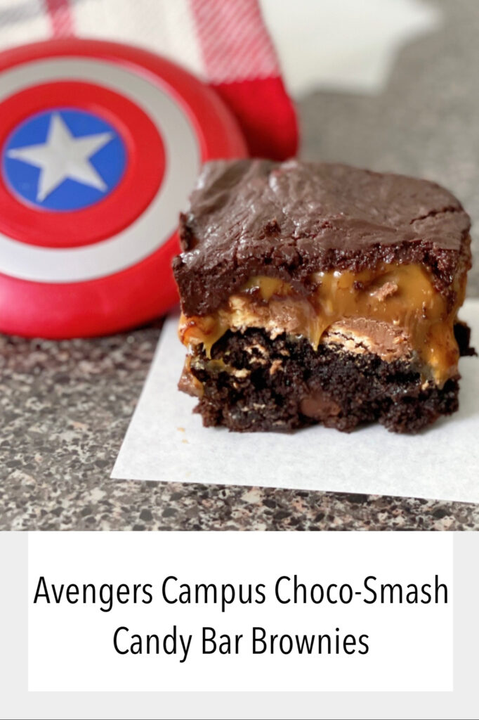 Avengers Campus Snickers Brownies.