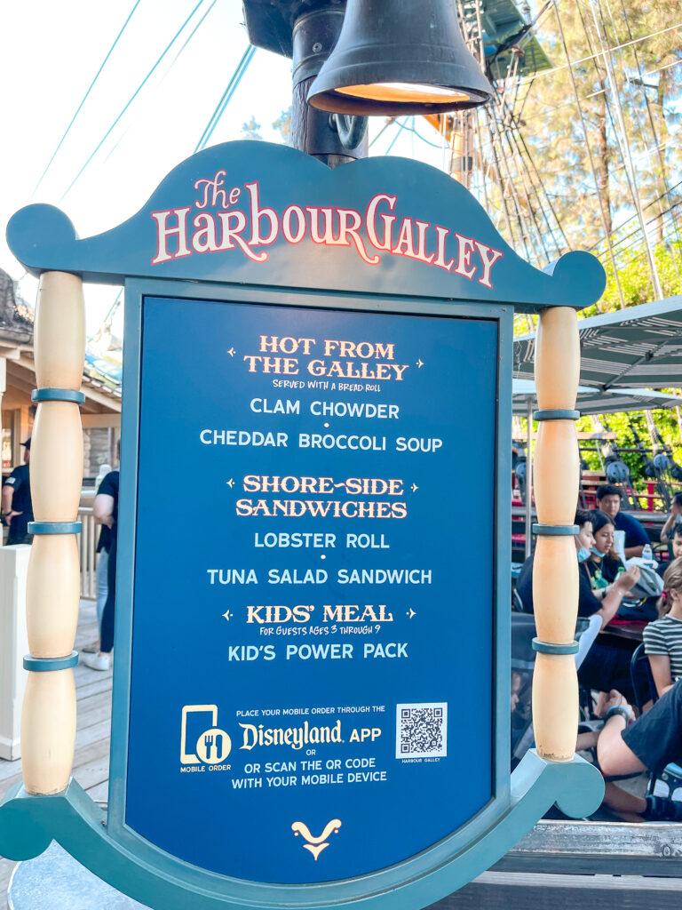 Harbour Galley at Disneyland.