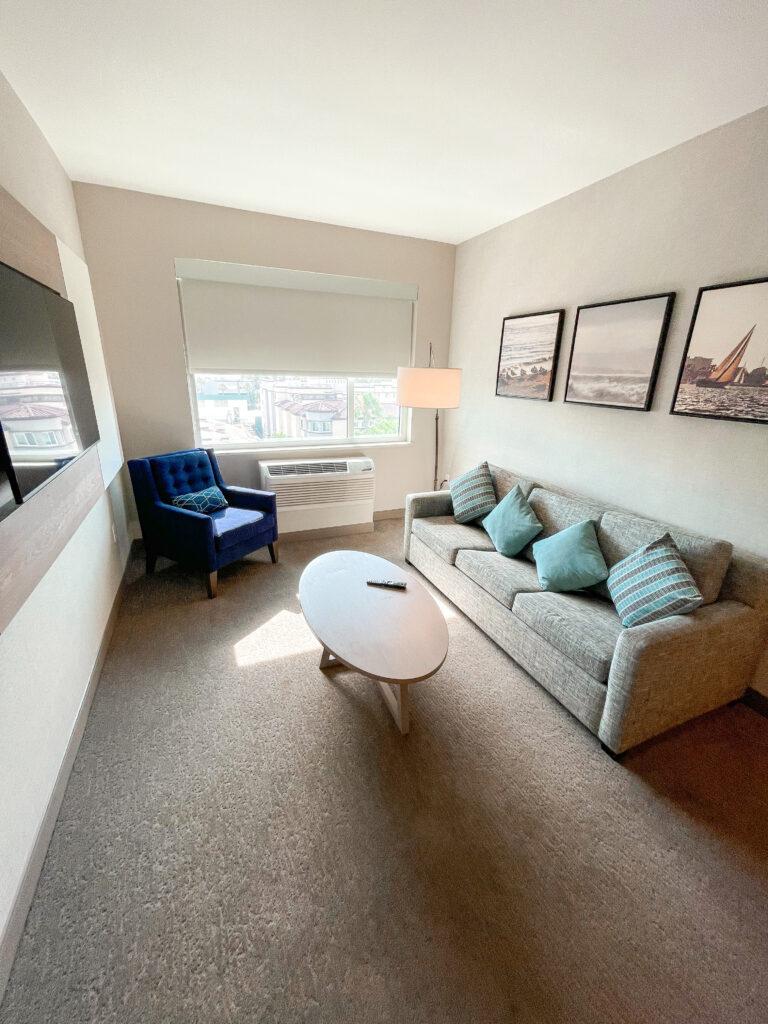 Kids Suite and Queen Suite Living Room.