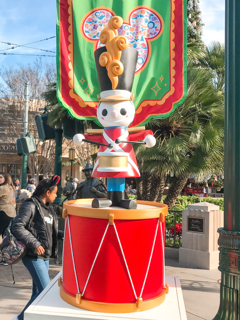 Christmas toy soldier decoration at Disneyland.