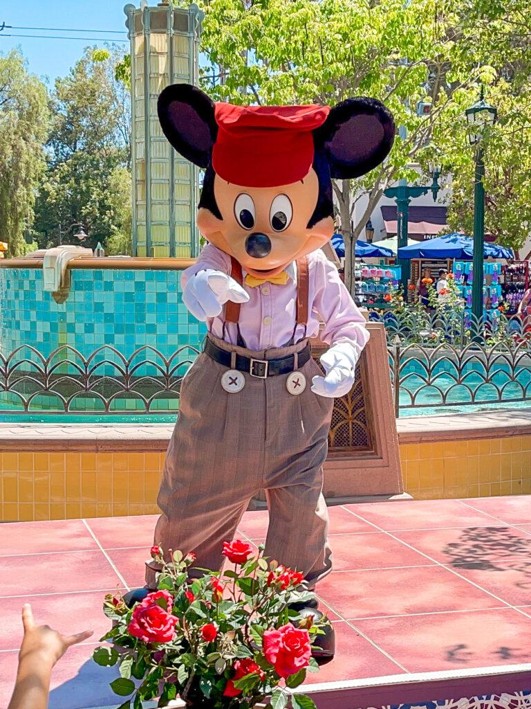 Mickey Mouse at Disney California Adventure.