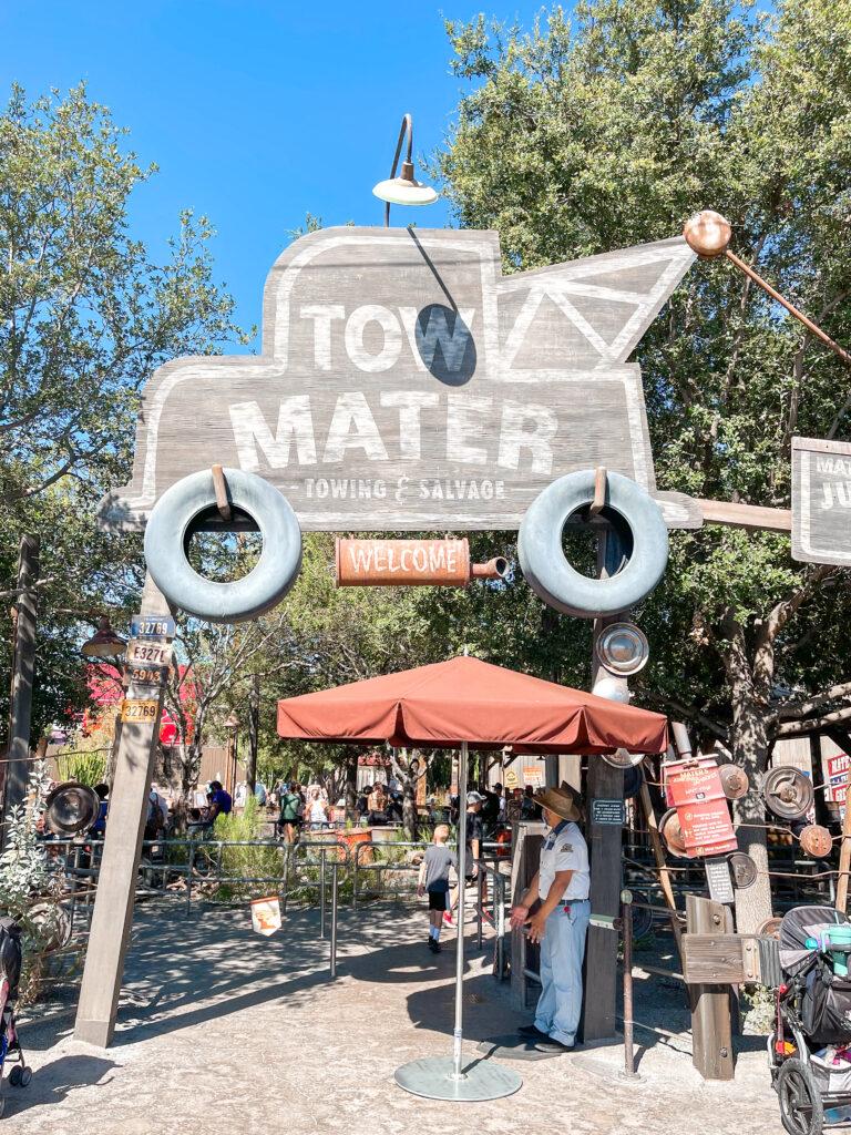 Mater's Junkyard Jamboree at Disneyland.