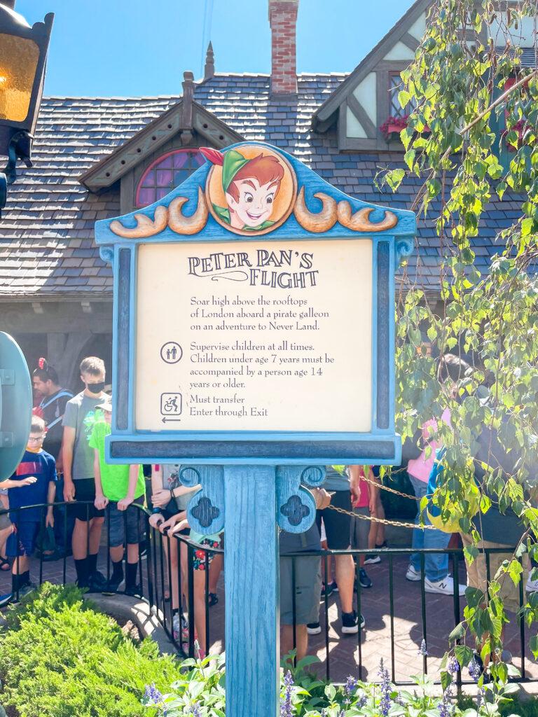 Peter Pan's Flight at Disneyland.