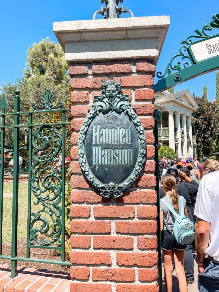 Haunted Mansion at Disneyland.