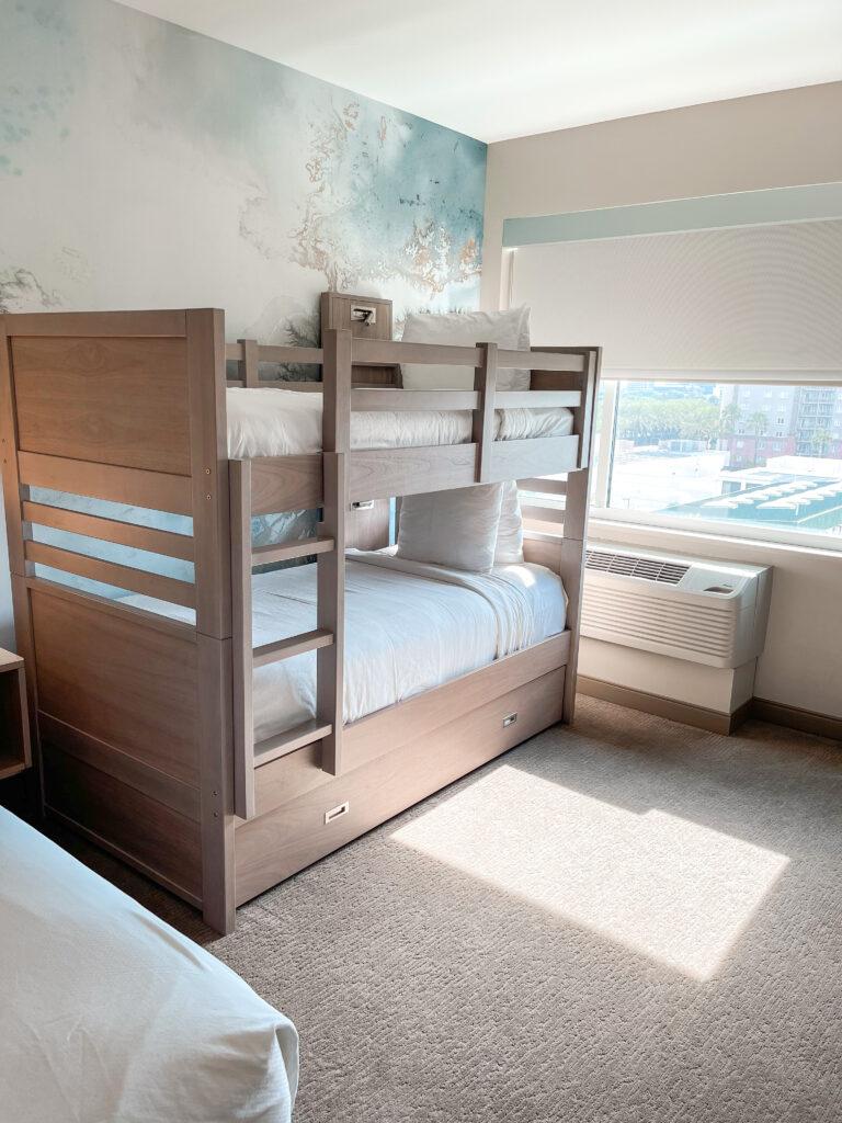 Bunk beds in king kids suite.