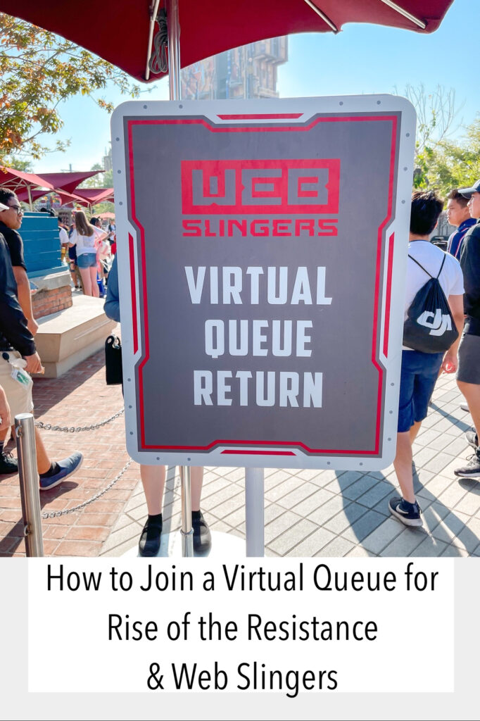 How to join a virtual queue for Rise of the Resistance and Web Slingers.