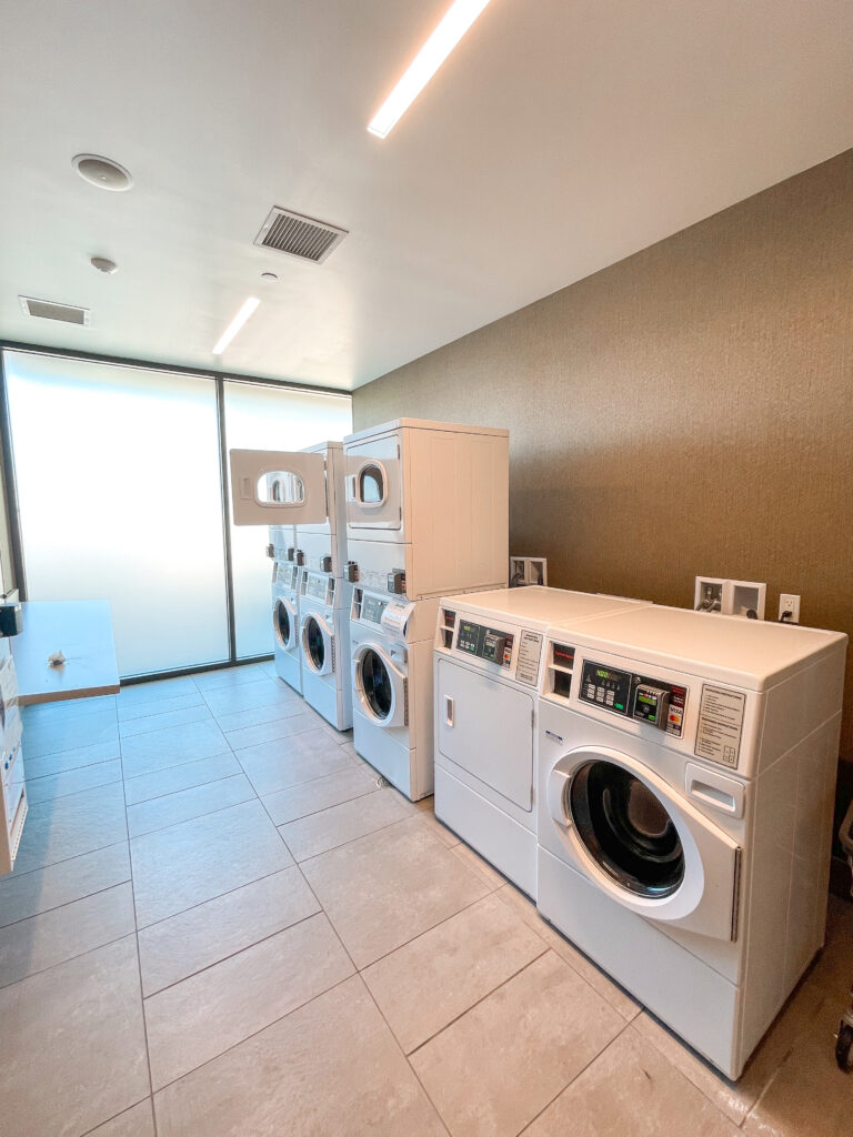 Laundry room at Cambria Hotel & Suites Anaheim.