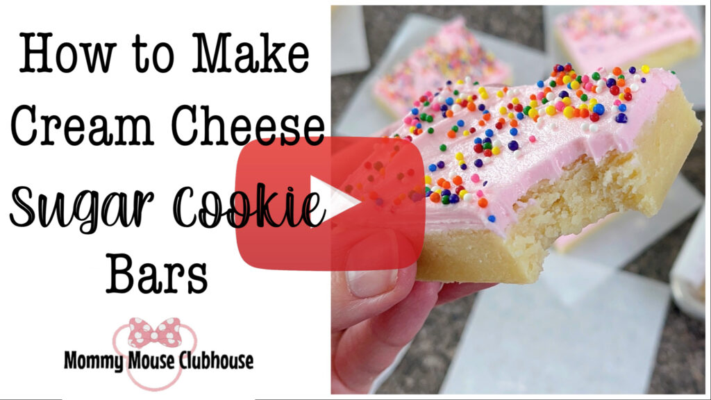 YouTube Thumbnail for How to Make Cream Cheese Sugar Cookie Bars