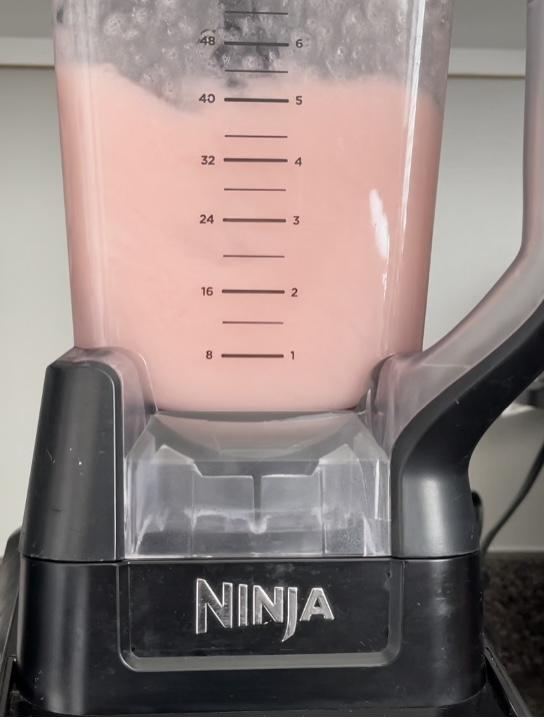 Watermelon lemonade in a blender.