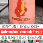 Pinterest image for Disneyland's watermelon lemonade freeze recipe.