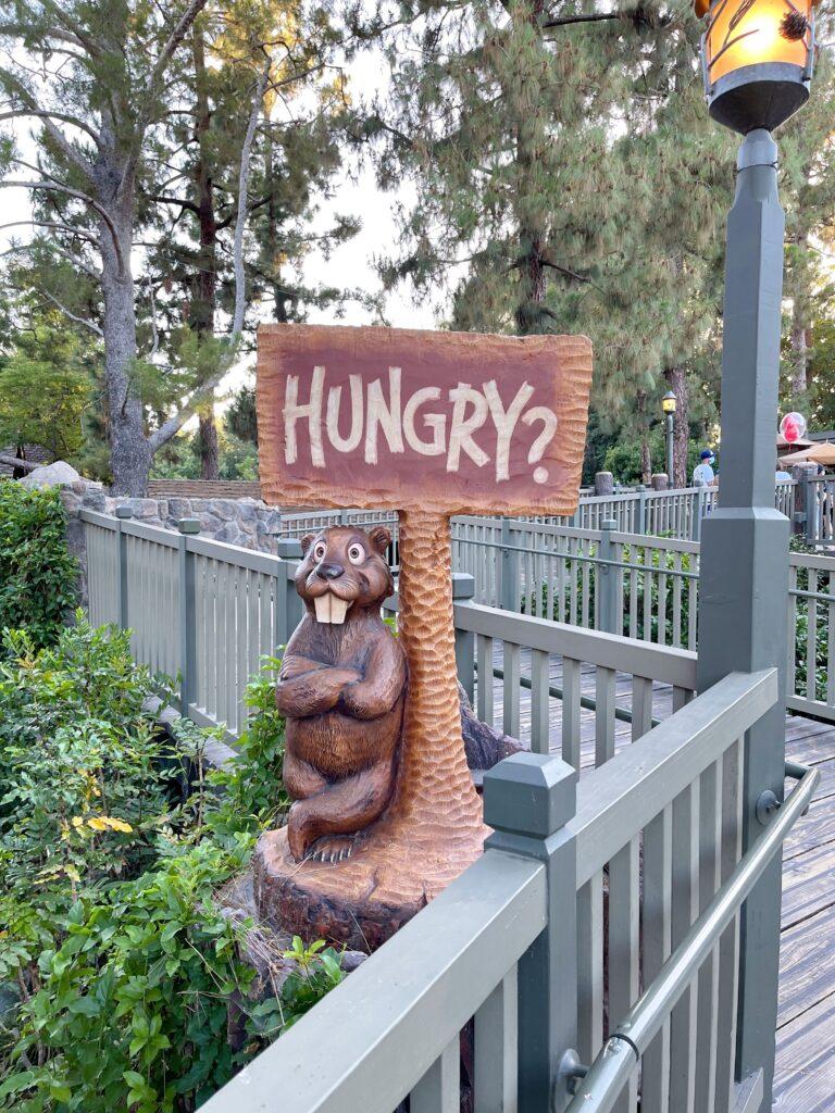 Entrance to Disneyland's Hungry Bear Restaurant.