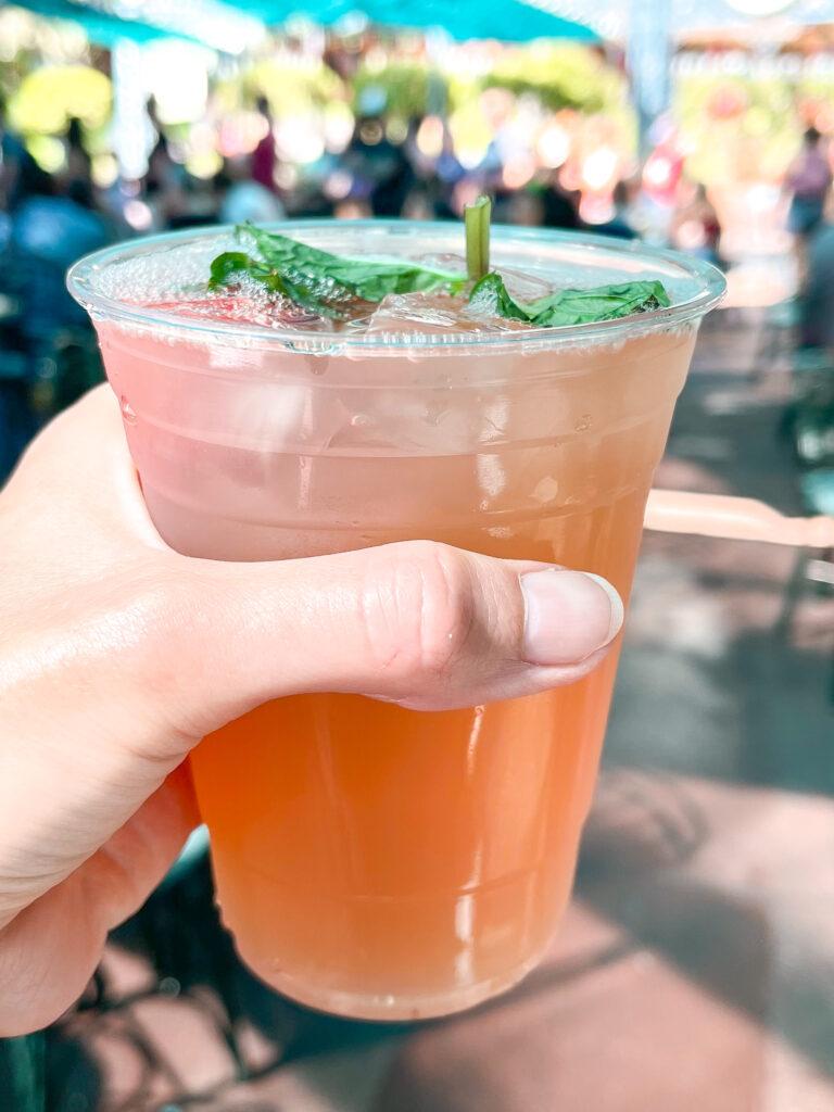 Strawberry Julep from Mint Julep Bar at Disneyland.