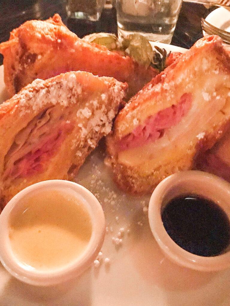 Monte Cristo Sandwich from Blue Bayou at Disneyland.