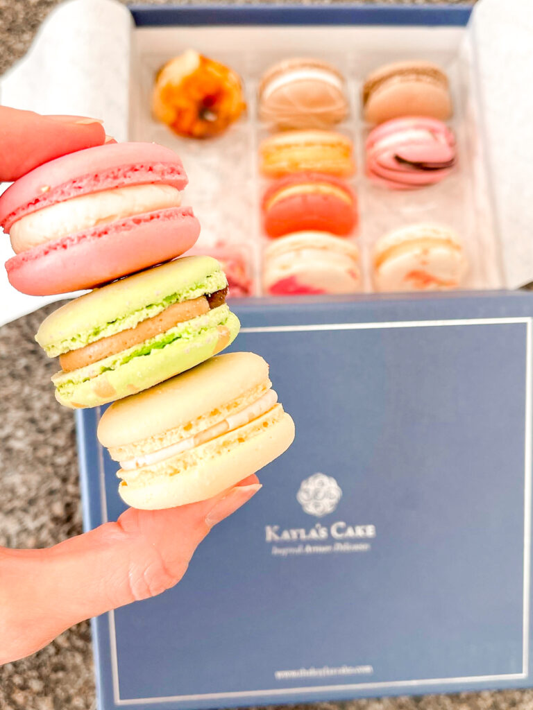Macarons from Kayla's Cakes at Downtown Disney in California.