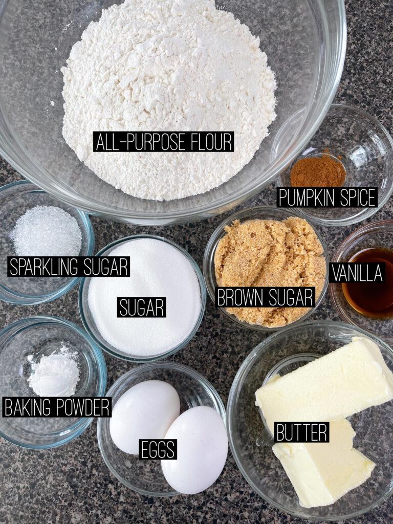 Churro Sugar Cookie Ingredients