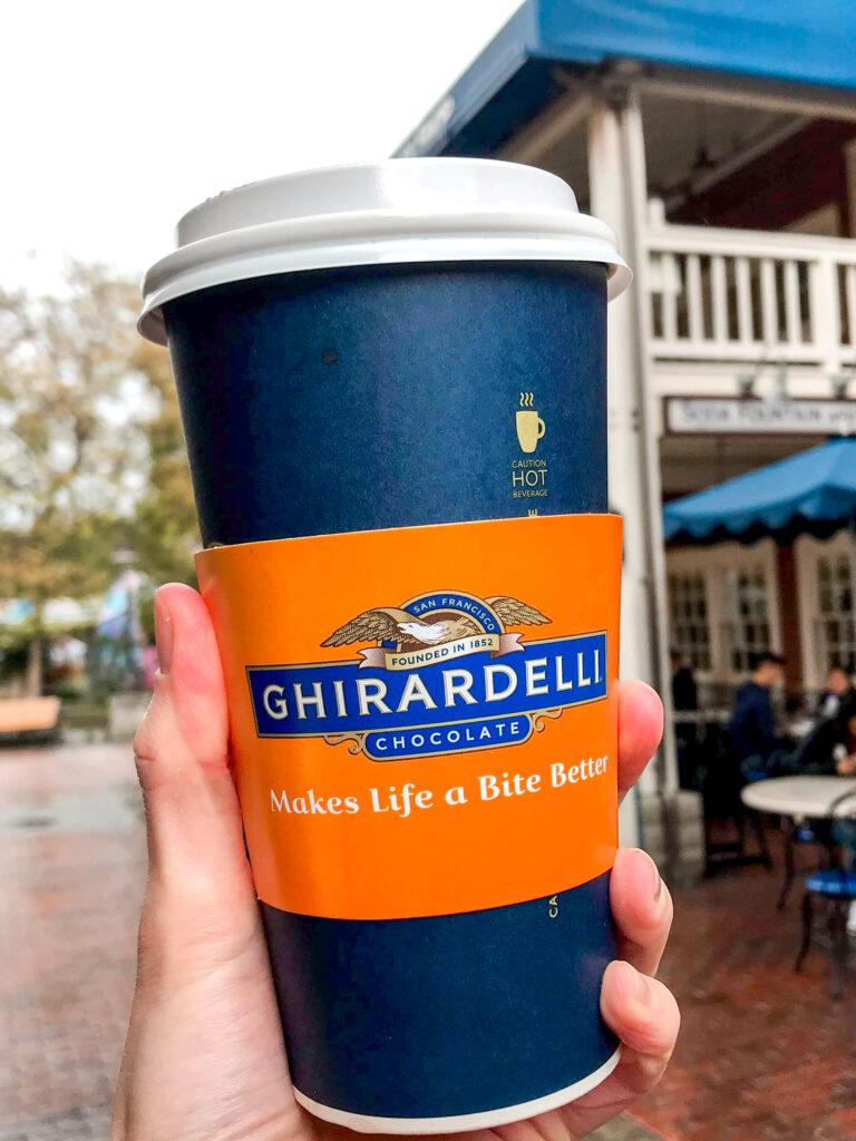 Ghirardelli Salted Caramel Hot Chocolate from Disneyland.