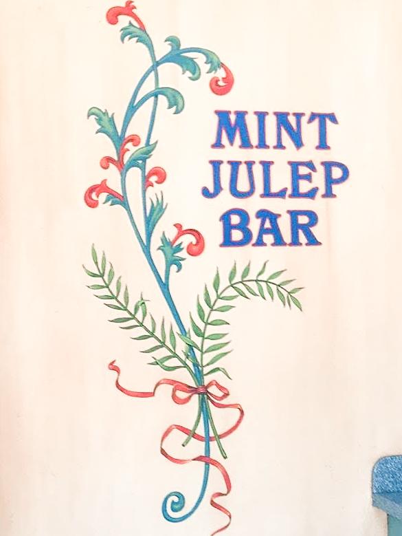 Mint Julep Bar at Disneyland.