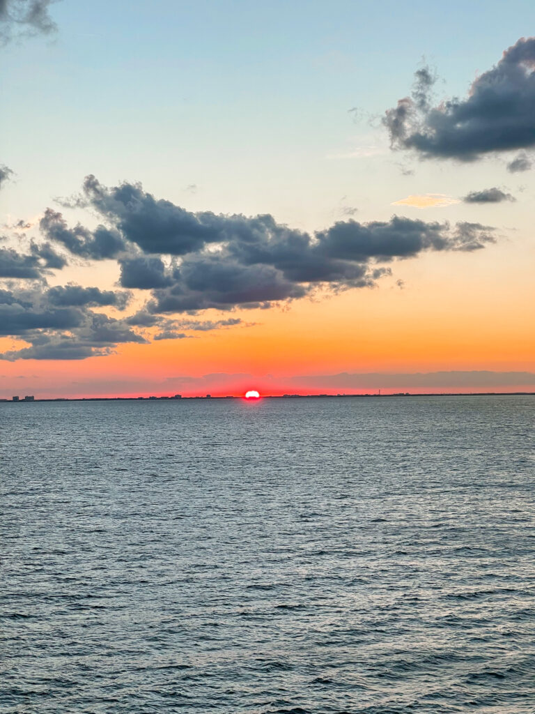 Sunset from the Disney Dream.