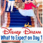 Pinterest image for Disney Dream Day 1.
