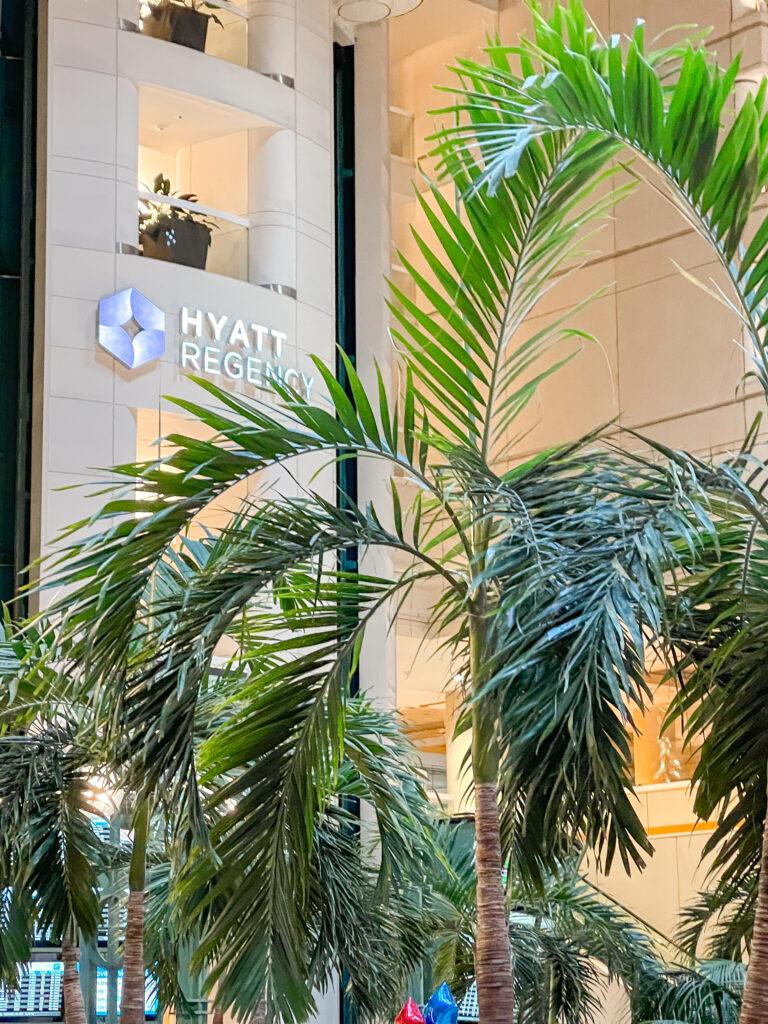 Entrance to the Hyatt Regency Hotel inside Orlando International Airport (MCO).
