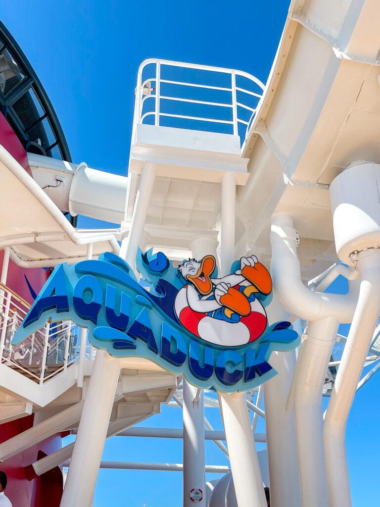 AquaDuck water slide on the Disney Dream cruise ship.