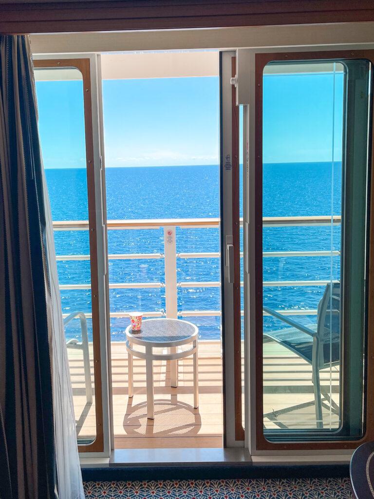 Veranda view from Disney Dream stateroom 8614.