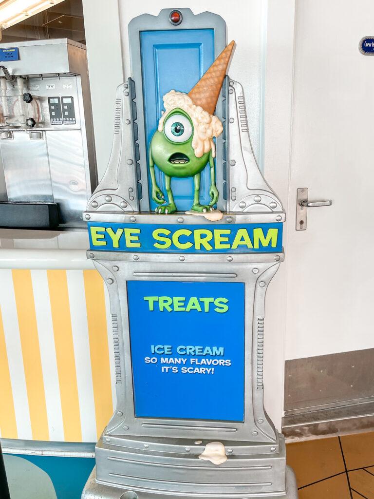 Ice cream station on the Disney Dream cruise ship.