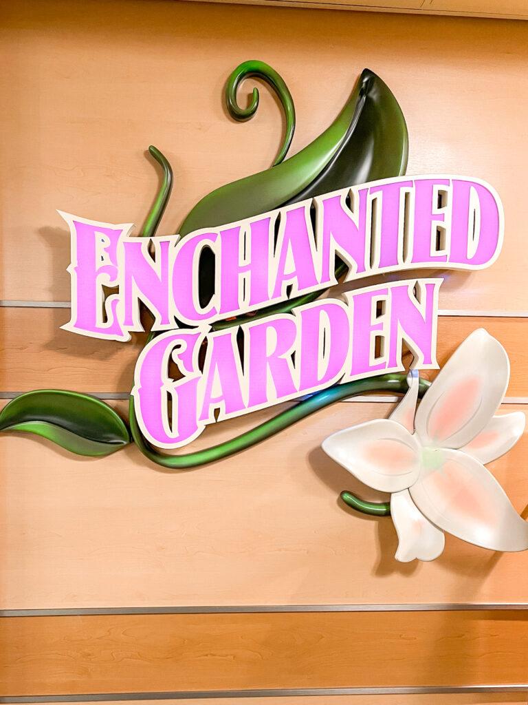Enchanted Garden restaurant on the Disney Dream cruise ship.