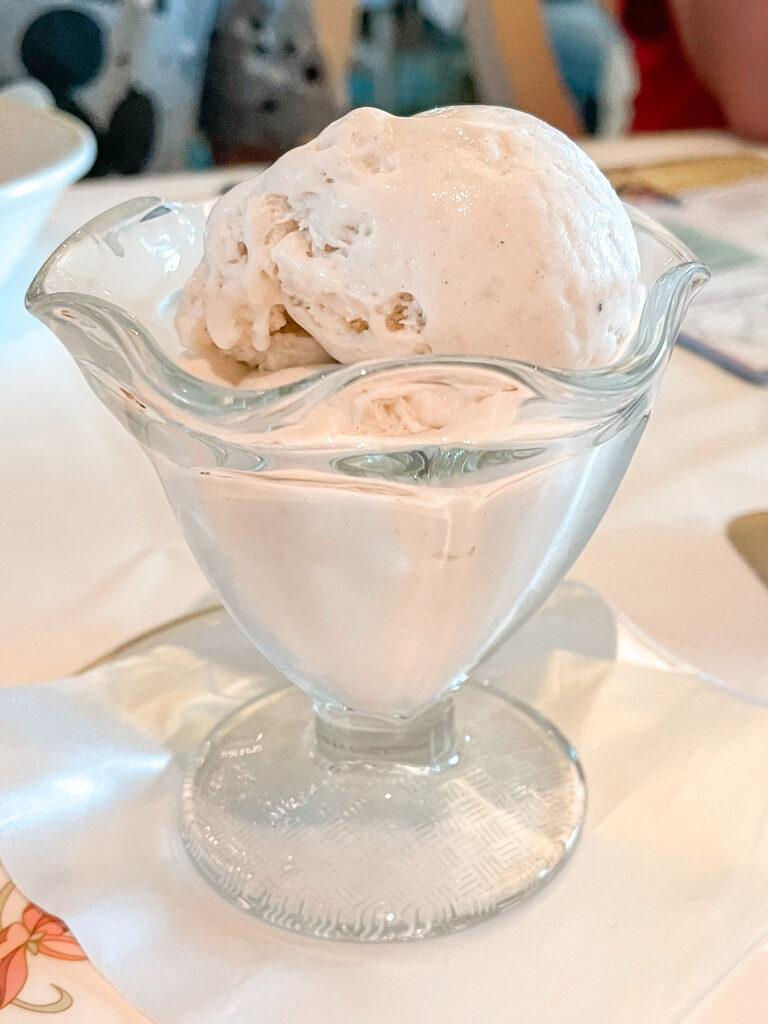 Vanilla Ice Cream from Enchanted Garden on the Disney Dream.